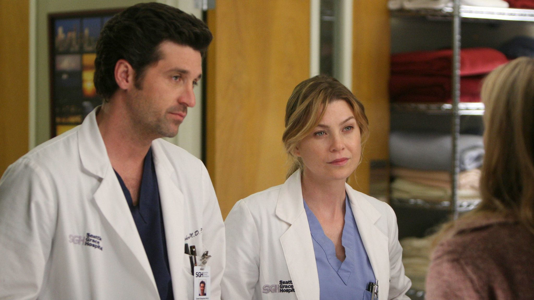 Patrick Dempsey and Ellen Pompeo in