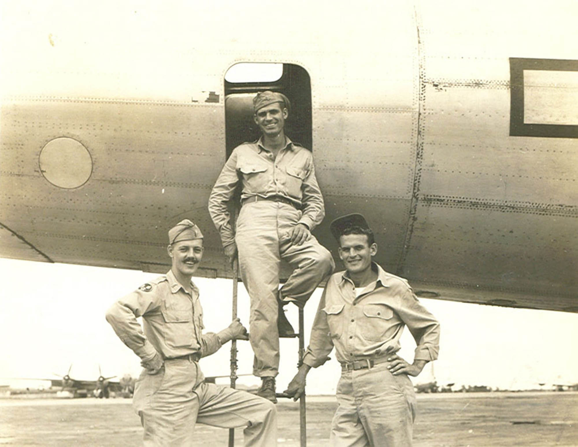 Three Texans were aboard a B-29 that crashed in China in 1944: Lt. Garl Bud Ray, who was the plane's co-pilot; Lt. Charles Gray, the flight observer; and Sgt. Virgil Bailey, a gunner.