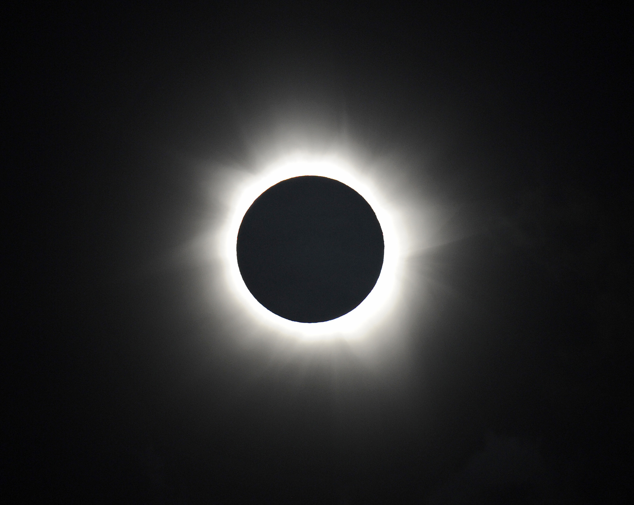 Totality is shown during the solar eclipse in Palm Cove, Australia, on Nov. 14, 2012.