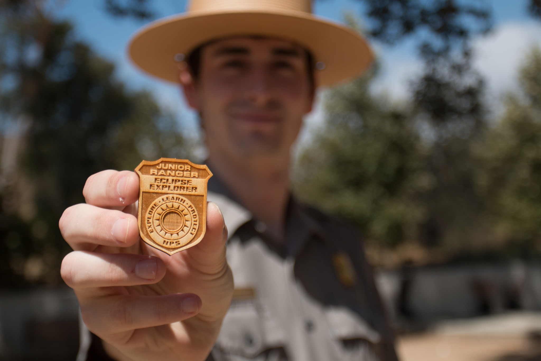 Young eclipse watchers will receive special Junior Ranger badges on Aug. 21.