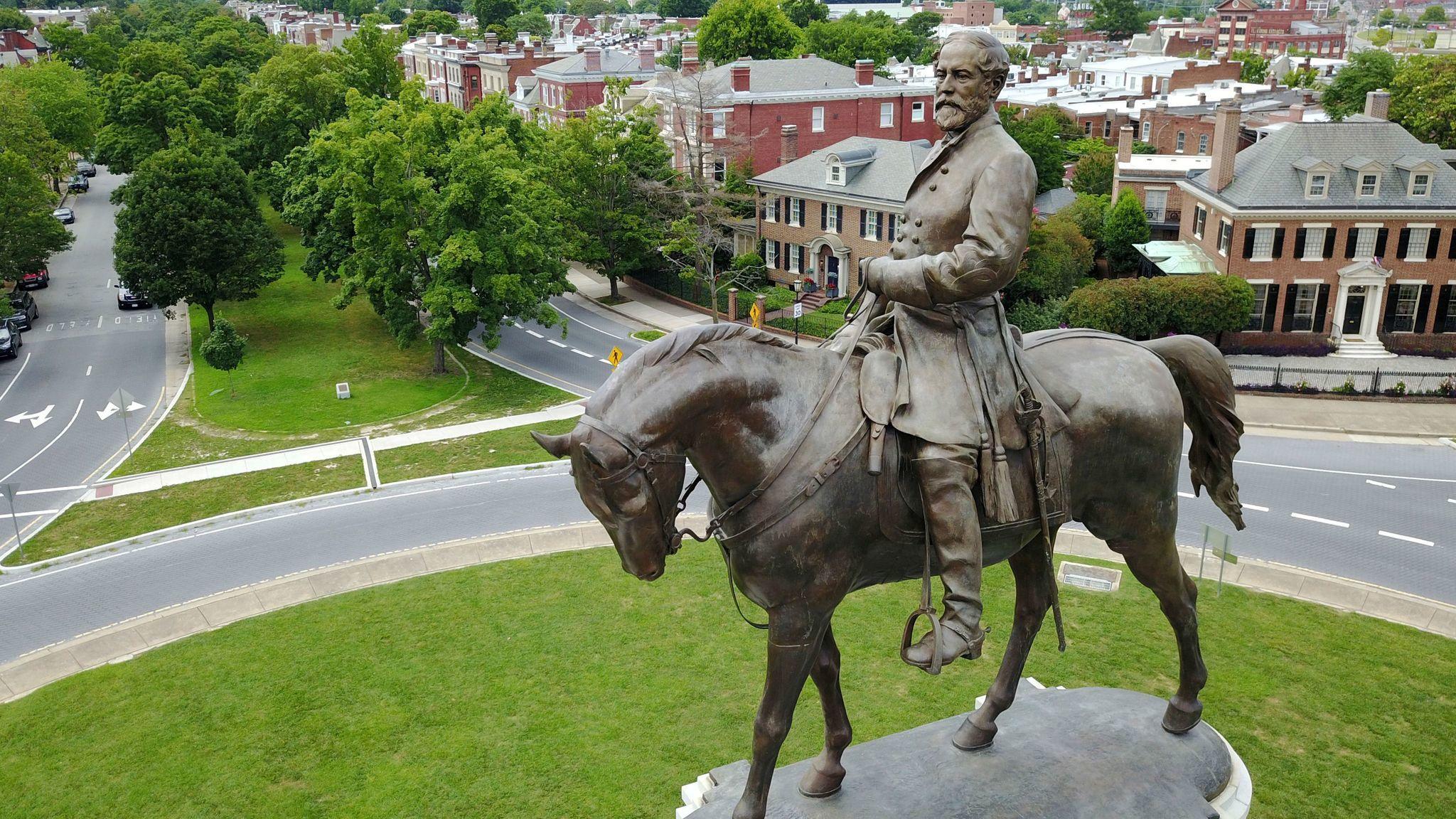 A statue of Confederate Gen. Robert E. Lee in Richmond, Va.