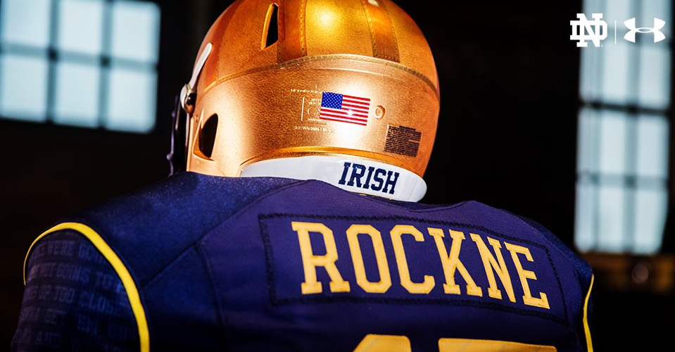 Notre Dame throwback uniforms pay tribute to Knute Rockne ...