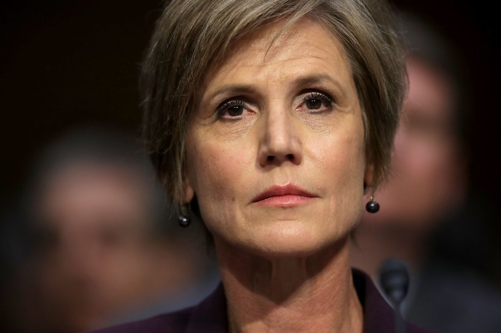 Acting Attorney General Sally Yates on May 8, 2017.