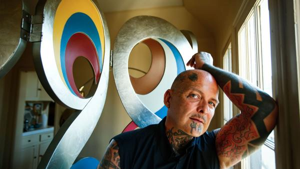Ron Athey at home in Silver Lake.