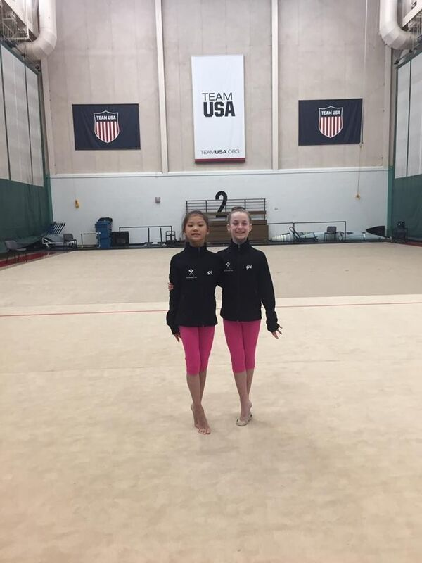 Kaylee Yen and Lucia Feldstein were named Future Stars and trained at the Olympics Training Center this summer.