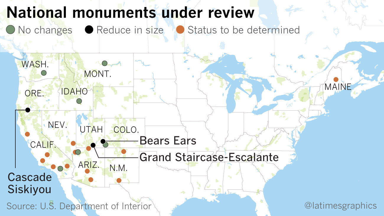 Here are the national monuments being reviewed under Trump\'s ...