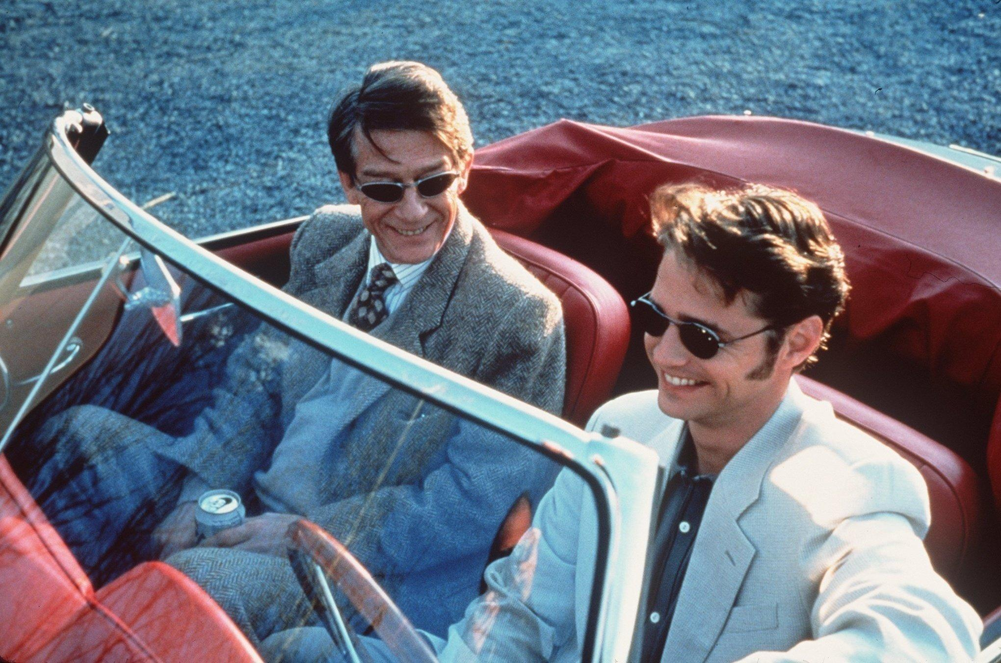 """John Hurt and Jason Priestley in """"Love and Death on Long Island."""""""