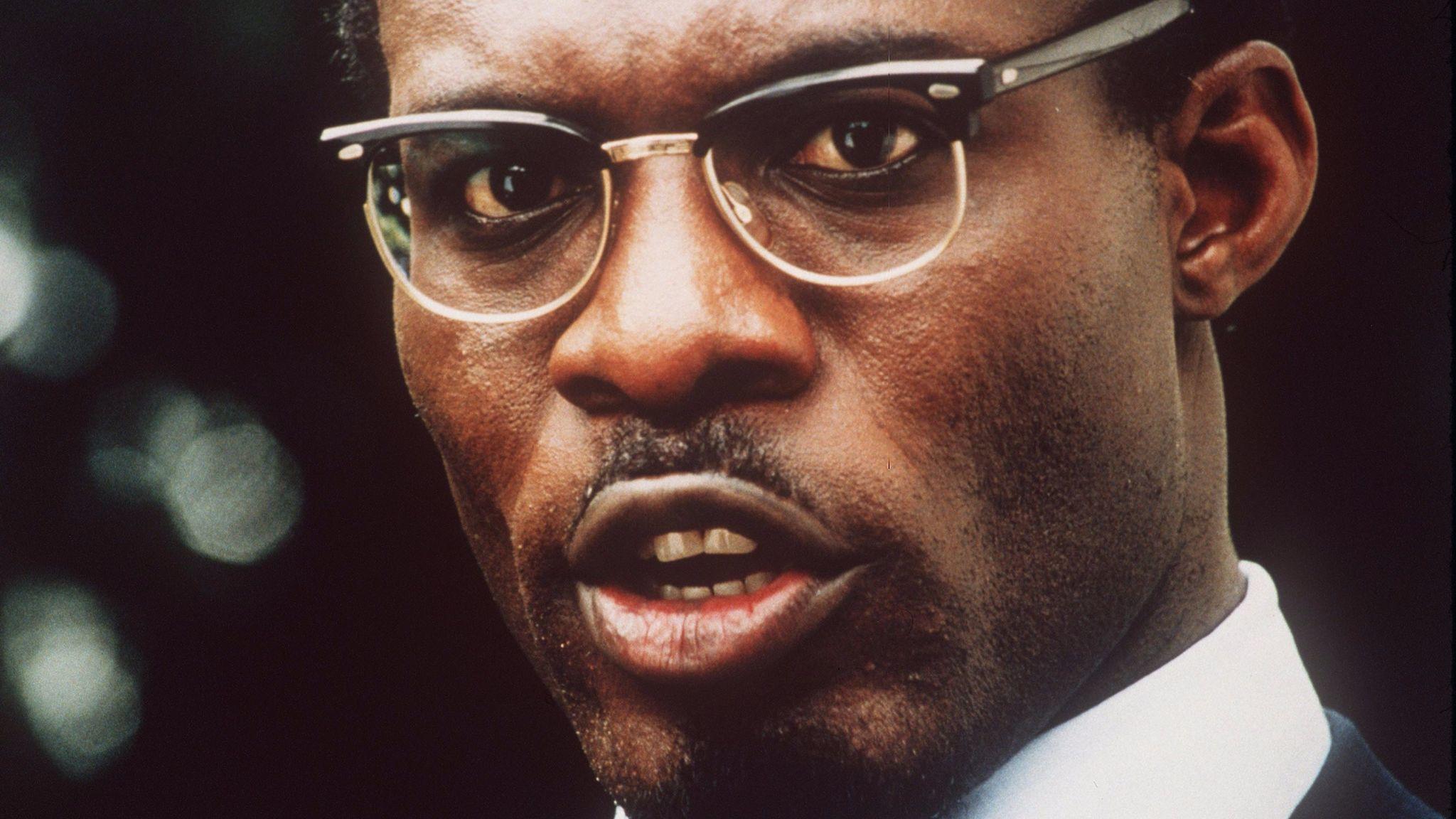 "Eriq Ebouaney as Patrice Lumumba, as the starring in the movie ""Lumumba."""