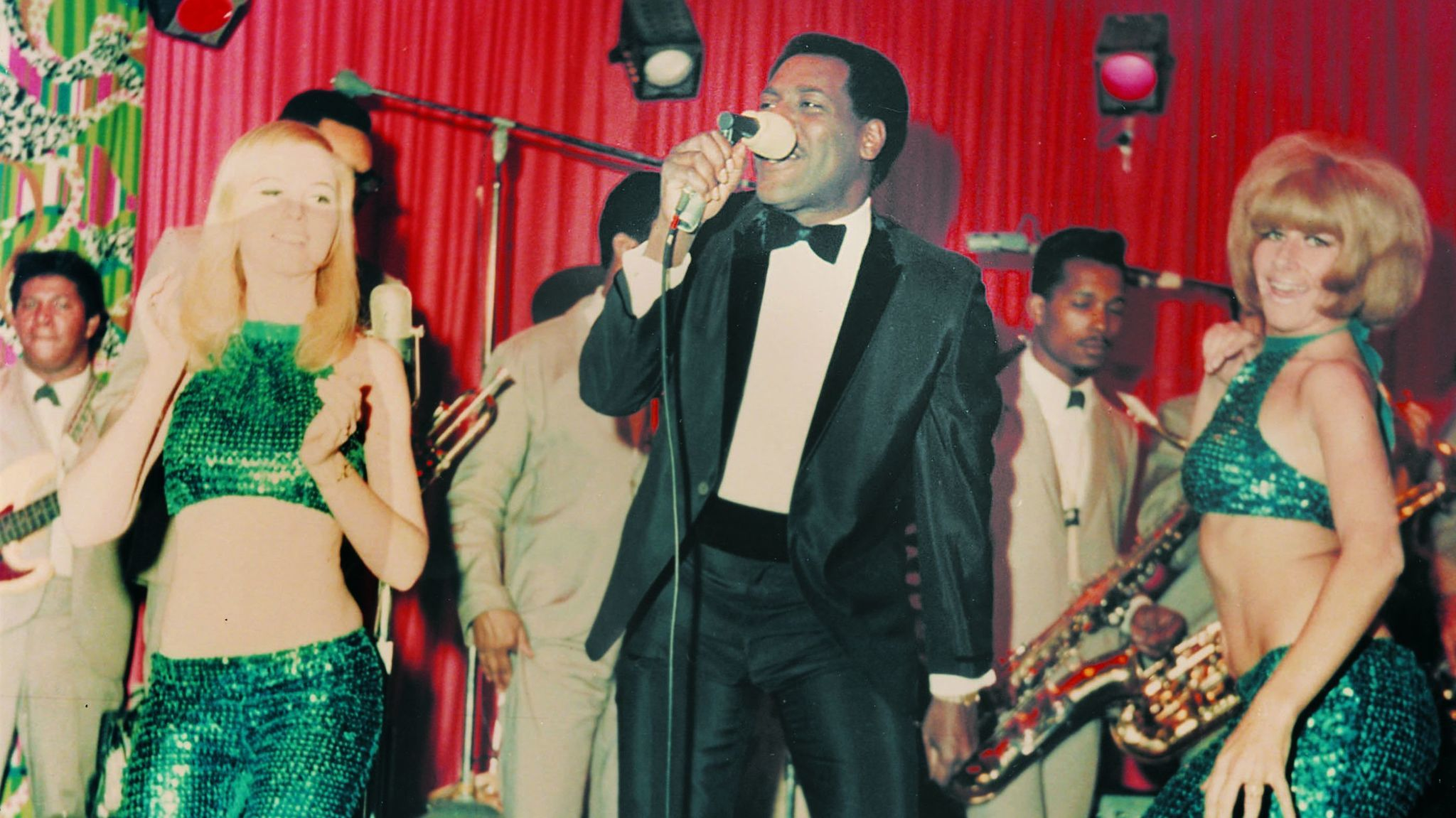 Otis Redding on stage at the Whisky A Go Go in Hollywood in April 1966.