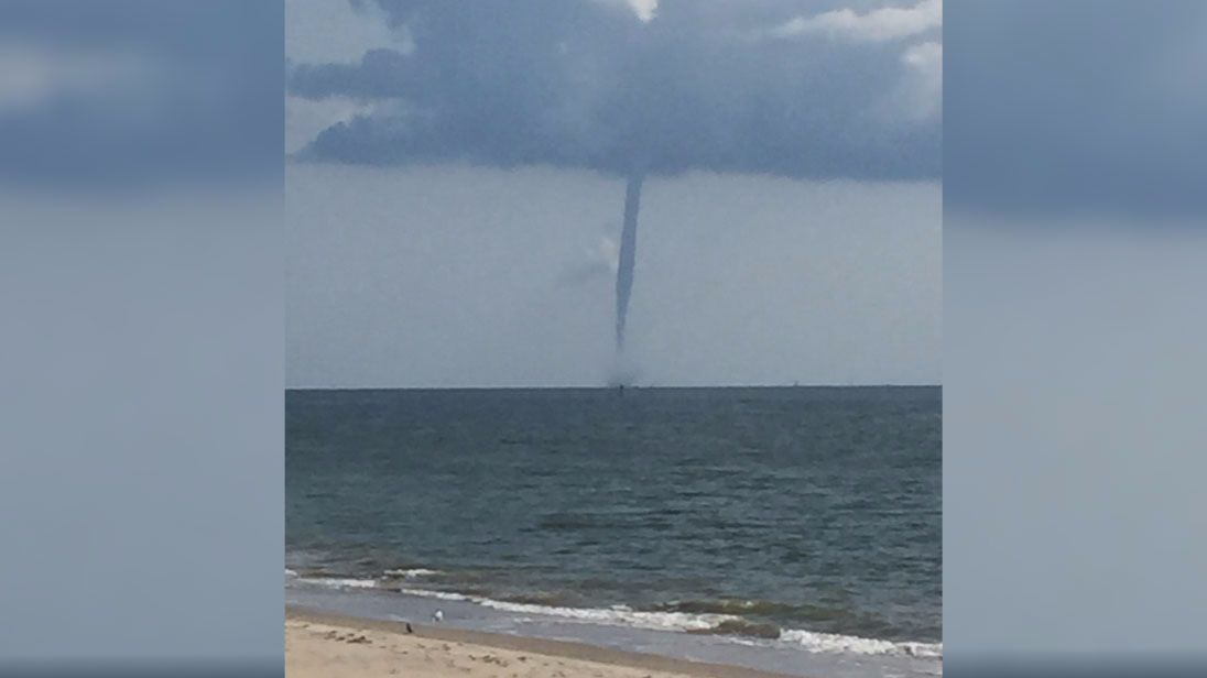 waterspout spotted in buckroe beach daily press