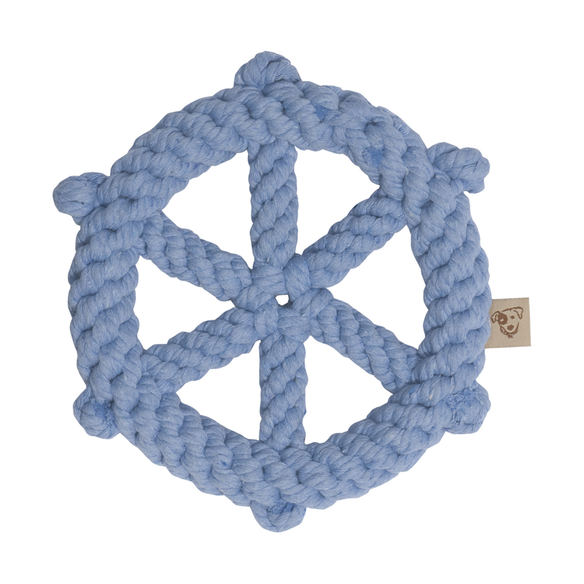 Ship wheel rope toy
