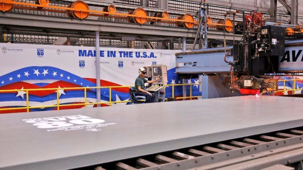 Enterprise Rises With First Cut Of Steel