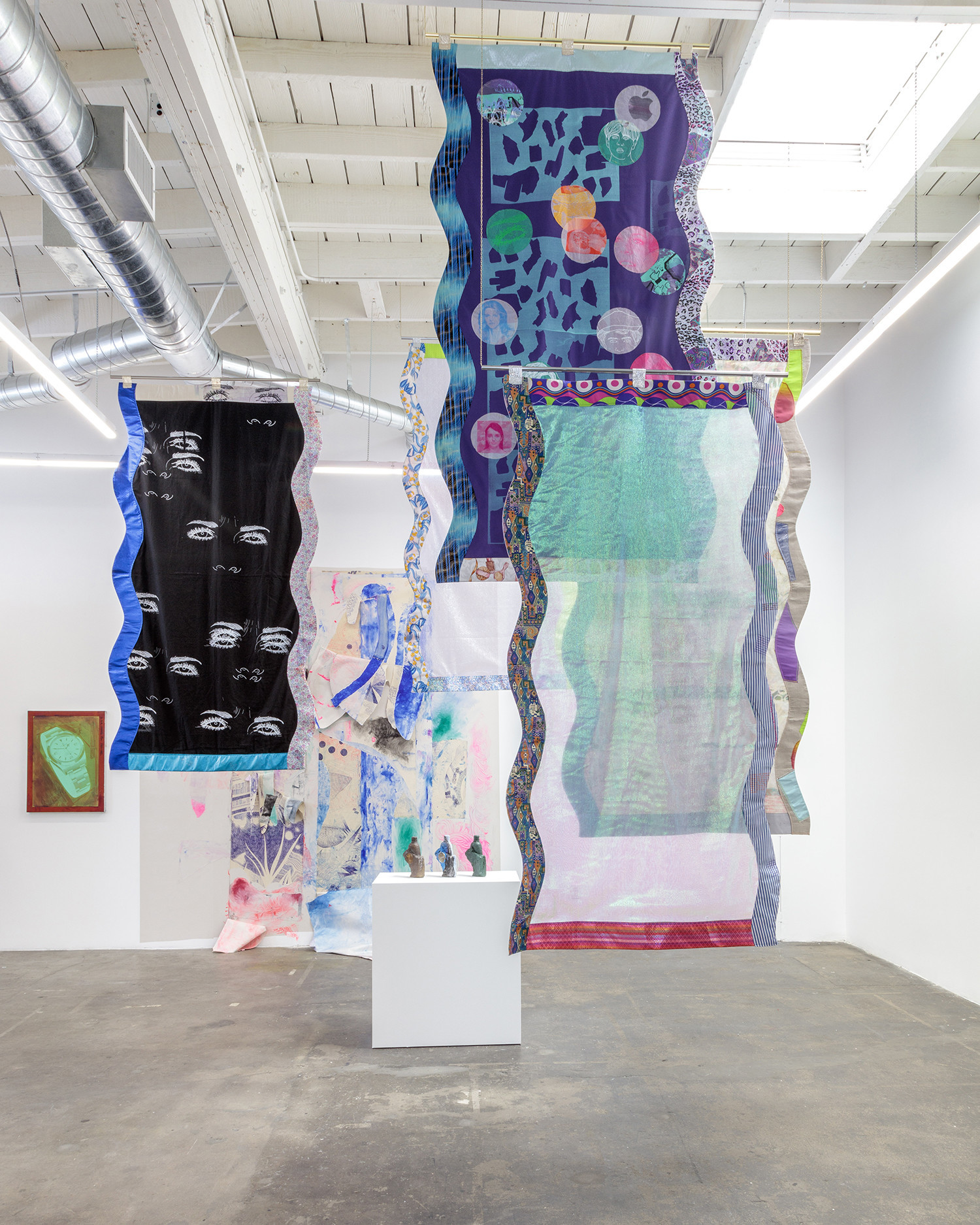 "Installation view of ""Ludovica Gioscia: Infinite Present"" at Baert Gallery in Los Angeles."