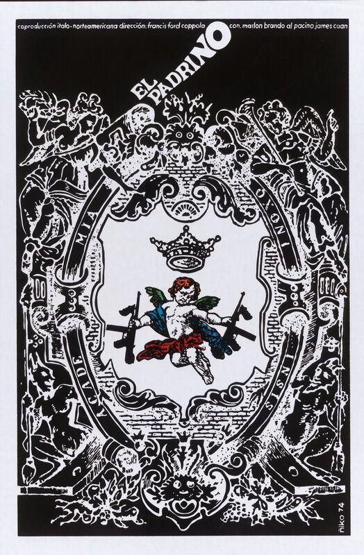 """A poster for """"El Padrino"""" (""""The Godfather""""), 1974. Instituto Cubano del Arte e Industria Cinematográficos."""