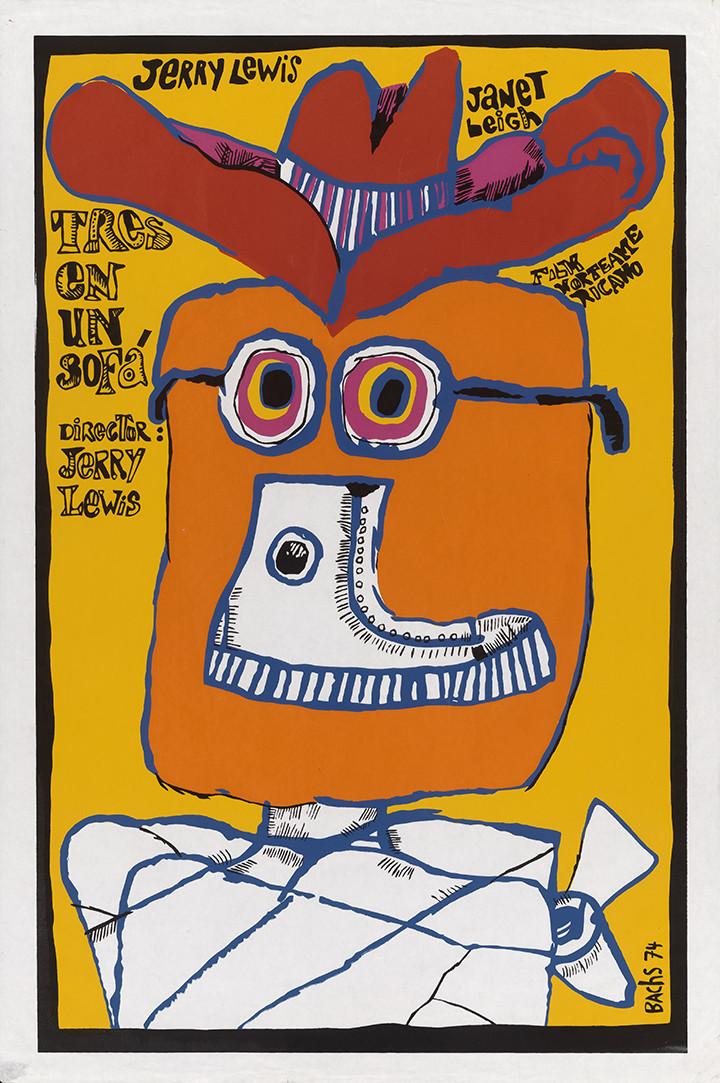 "A poster for ""Tres en un Sofá"" (""Three on a Couch""), 1974. Instituto Cubano del Arte e Industria Cinematográficos."