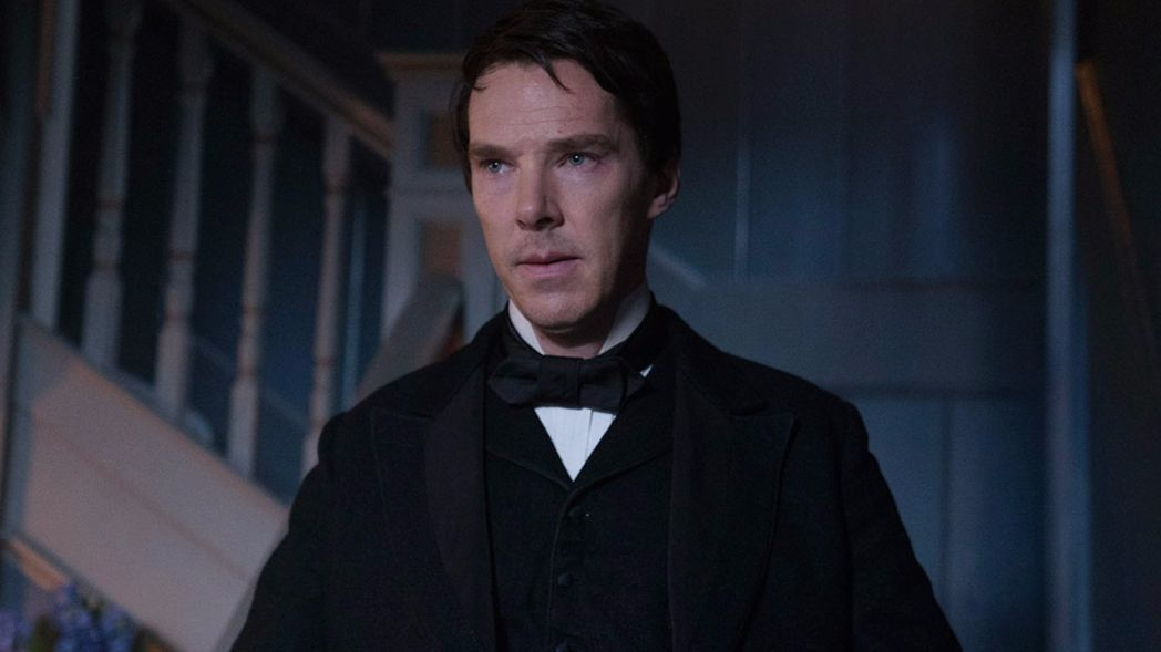 "Alfonso Gomez-Rejon directs Benedict Cumberbatch (pictured), Michael Shannon, Nicholas Hoult, Tom Holland, and Katherine Waterston in ""The Current War."""