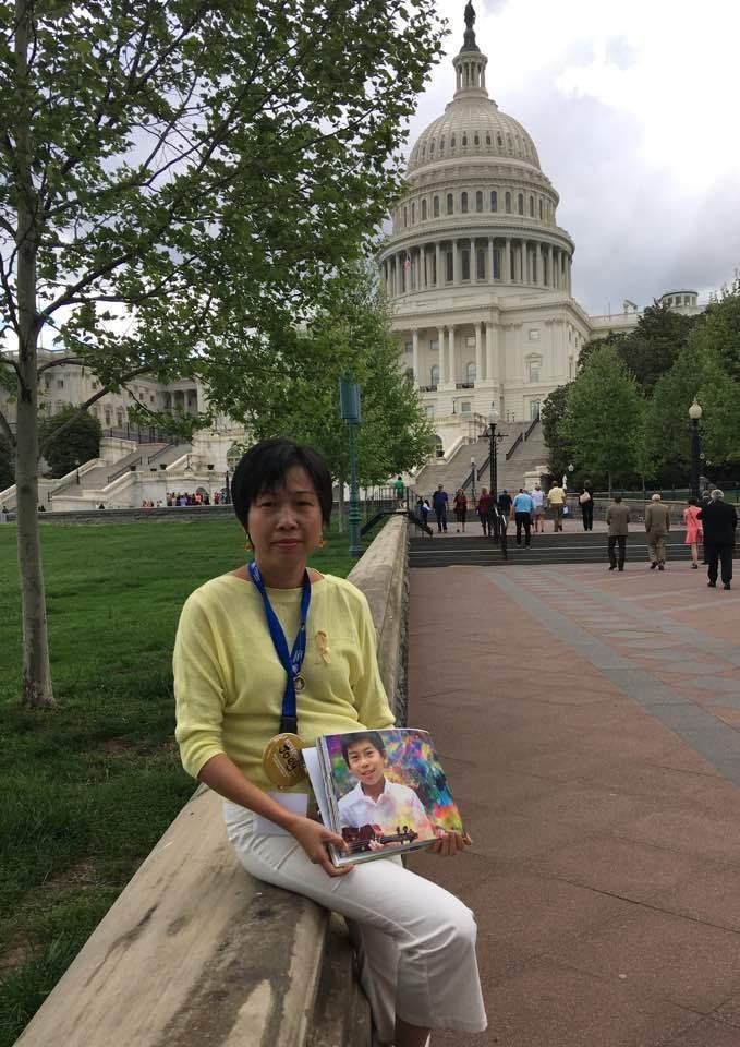 Kathy Liu lobbying in Washington DC this year.