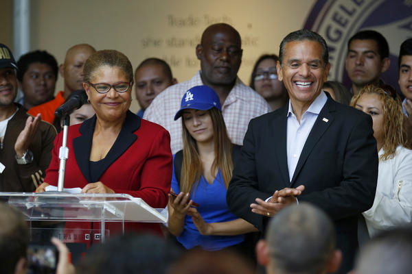 Los Angeles Rep. Karen Bass Endorses Antonio Villaraigosa In Governor's Race