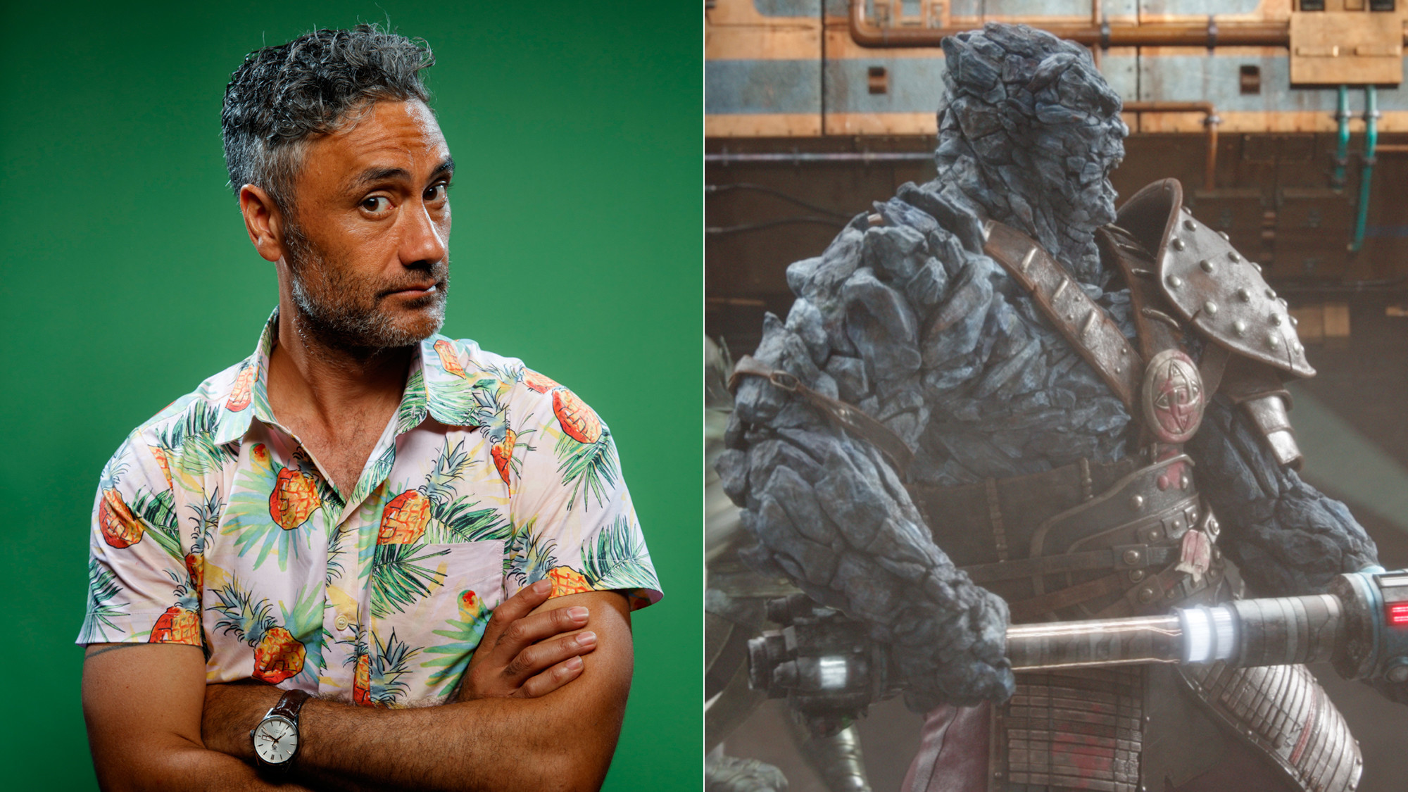 "Taika Waititi plays Korg in ""Thor: Ragnarok."""