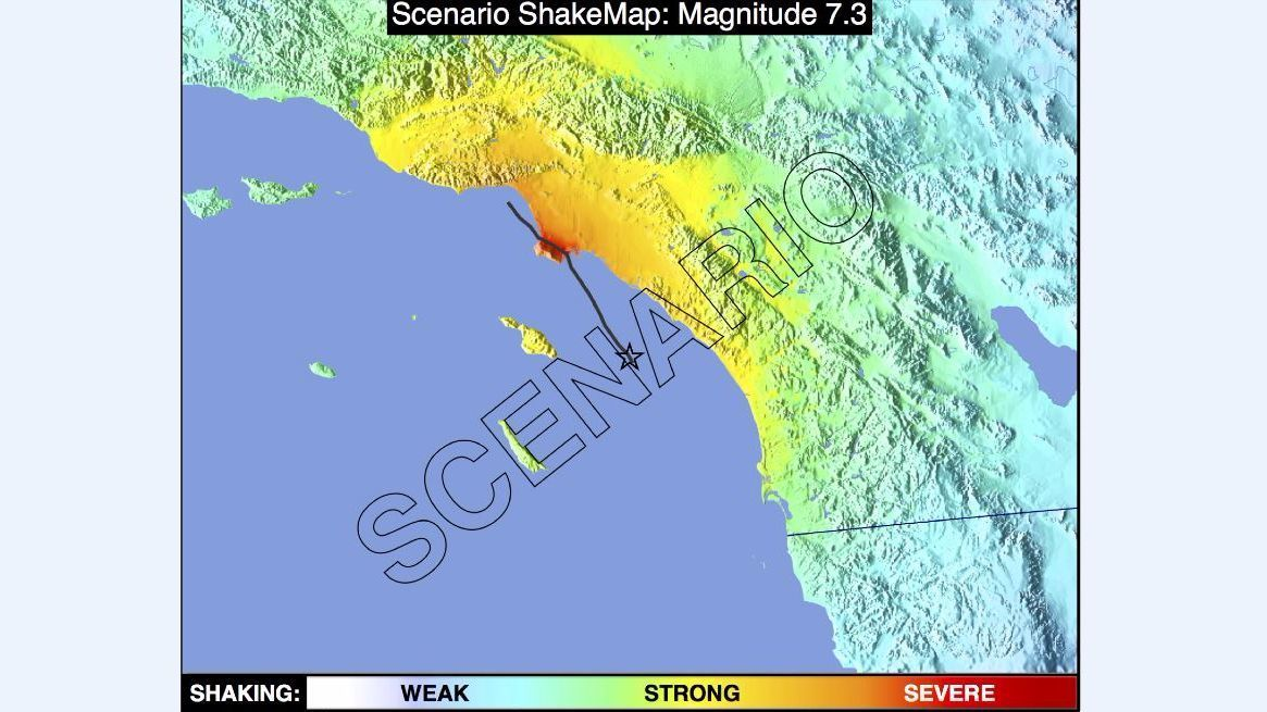 The artificial land underneath the ports of Los Angeles and Long Beach could liquefy if a magnitude 7.3 earthquake strikes the Palos Verdes fault.