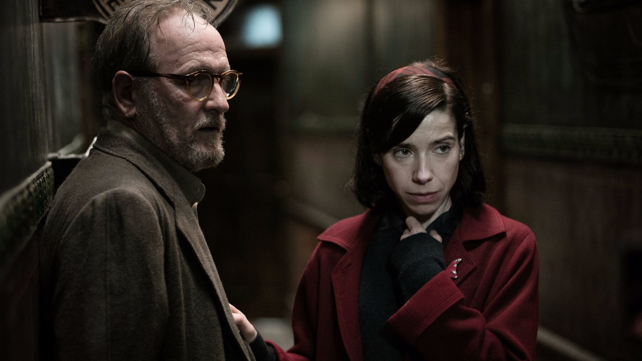 "Richard Jenkins and Sally Hawkins in the film ""The Shape of Water."""