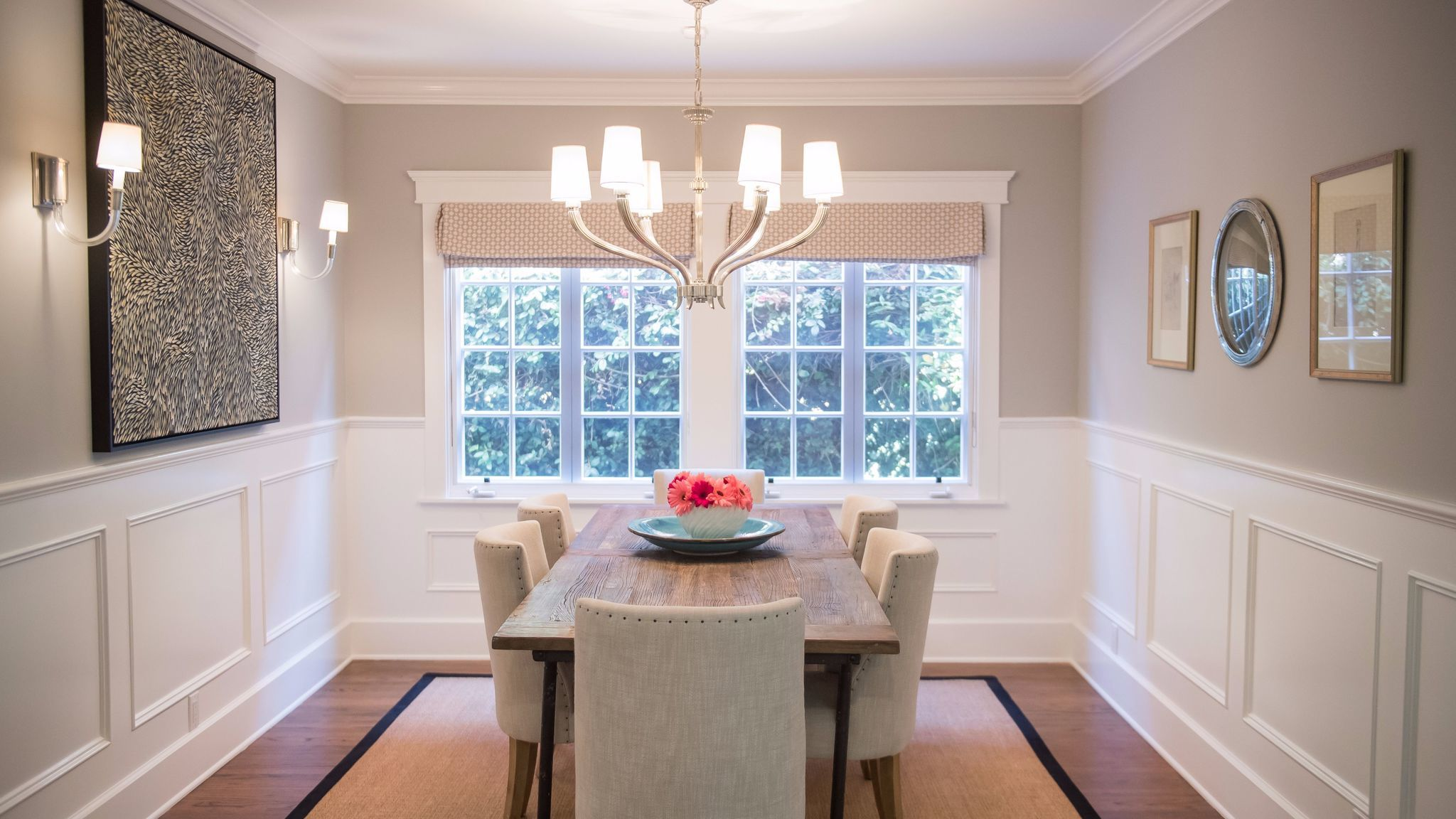 After: Sachs-Fishman used the same window treatments from Valley Drapery and Upholstery throughout.