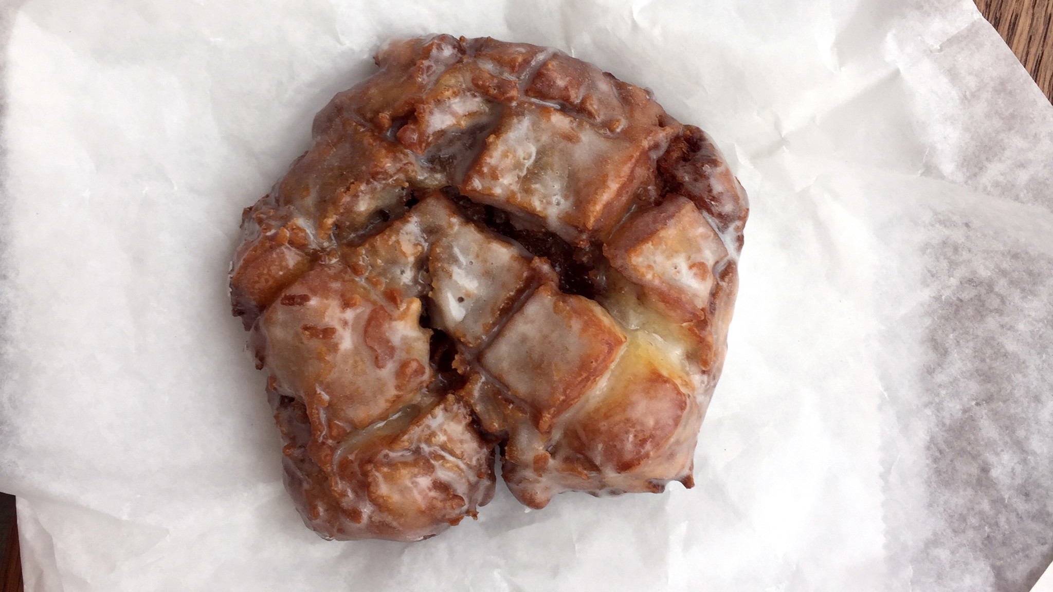 Hard apple cider fritter from Blue Star Donuts.