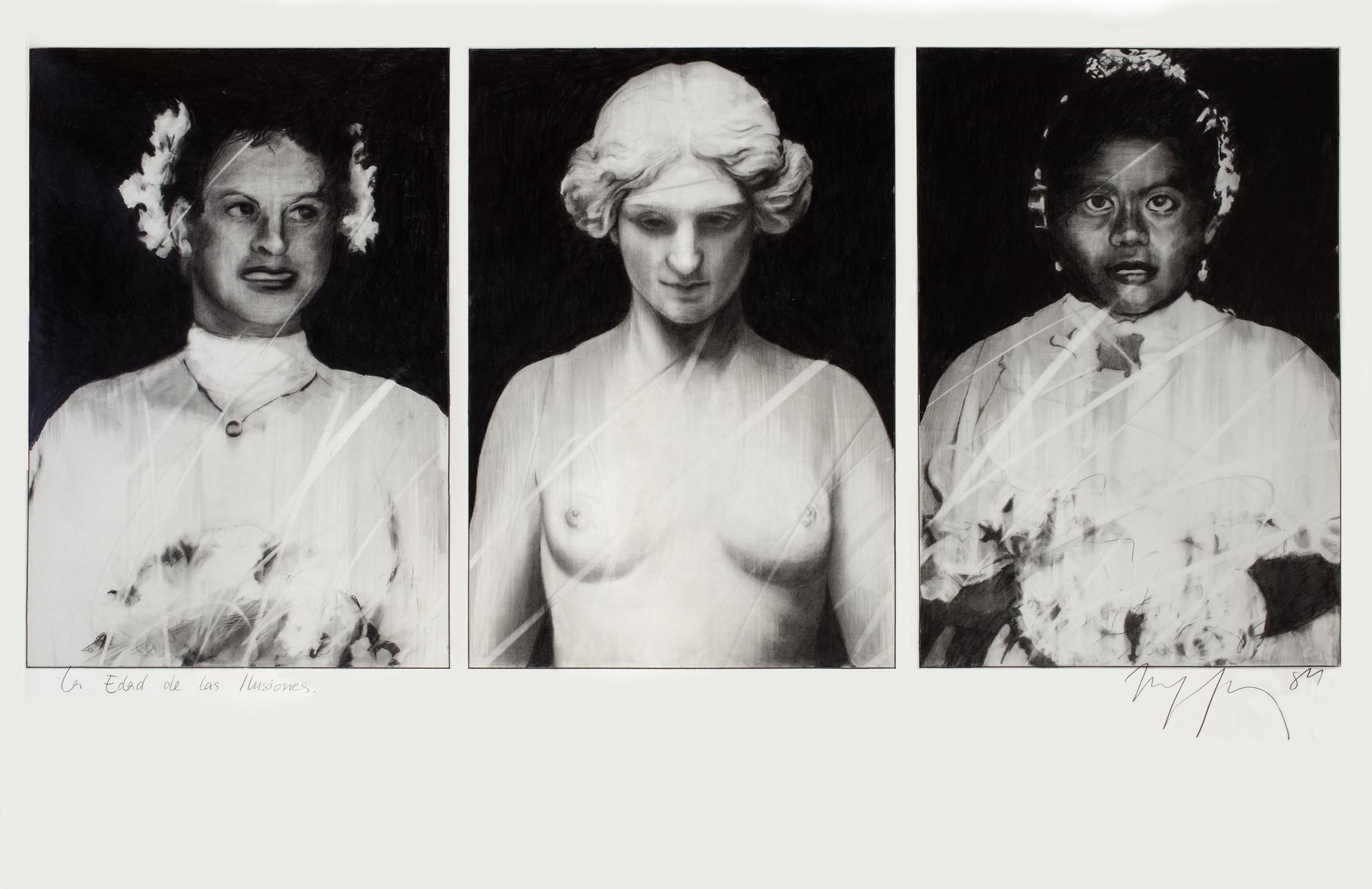 """""""La edad de las ilusiones"""" (The Age of Illusions), 1984, by Carla Rippey."""