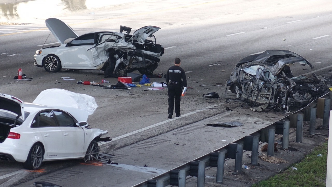 Florida Car Accident: Overnight Crashes On I-95, I-75 In Broward Leave Two Dead