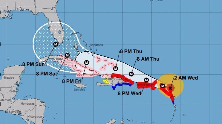 Hurricane Irma Hits First Islands Retains Strength And Course That
