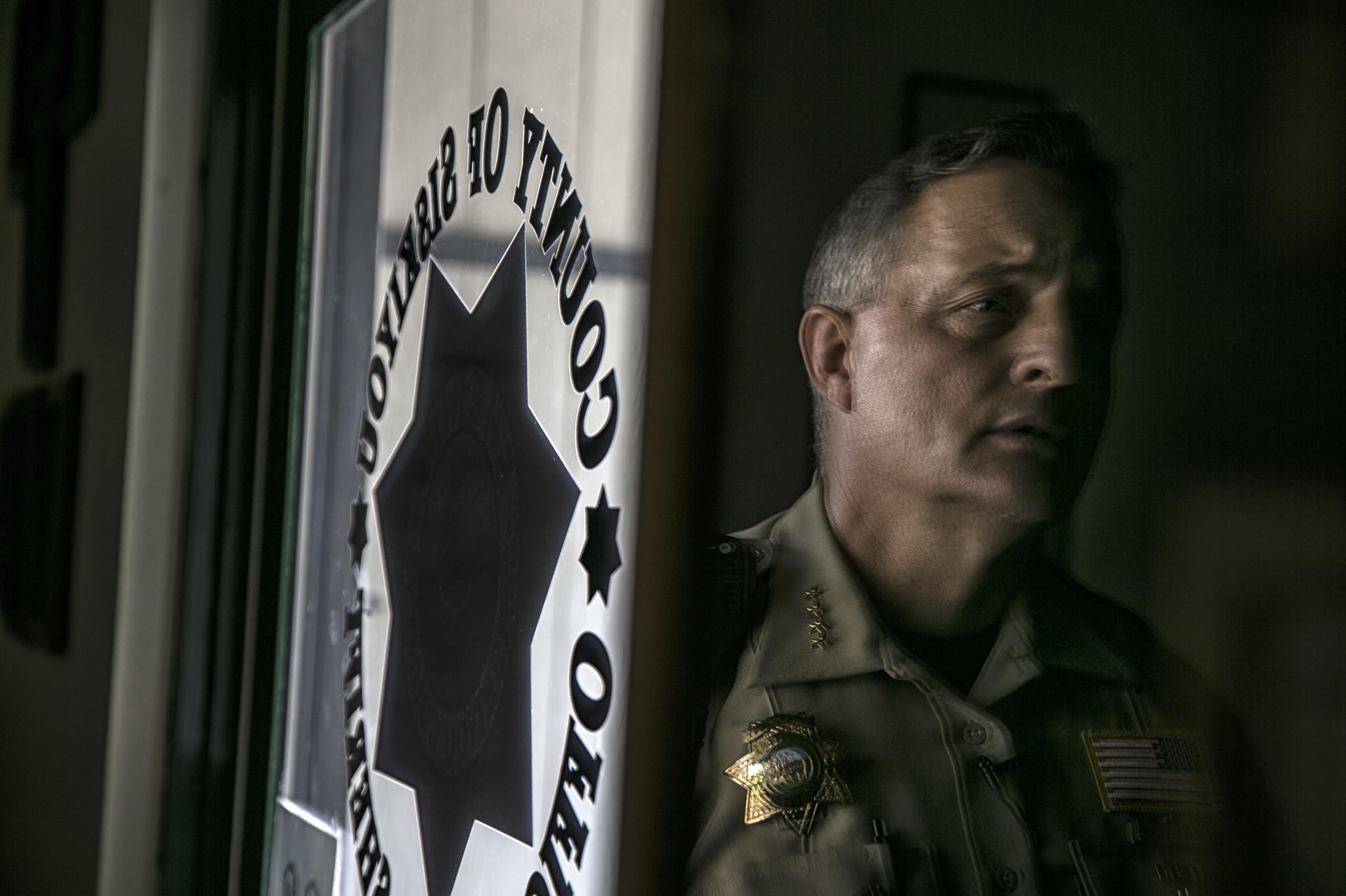 Sheriff John Lopey runs a department that patrols the vast area of Siskiyou County near the Oregon border and Mt. Shasta.
