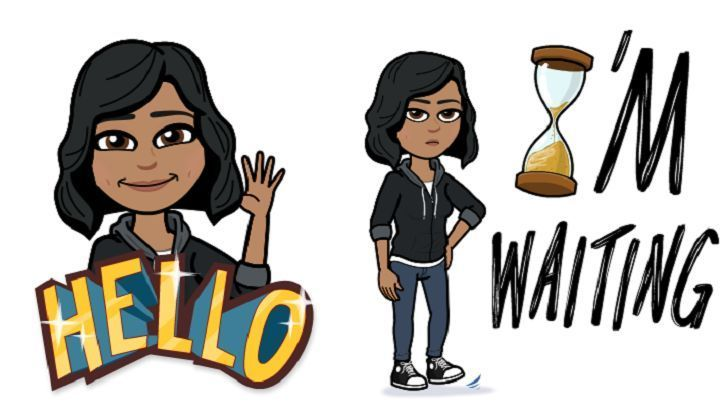 A pair of bitmoji, which are personalized images used similarly to emoji in online chats, feature a caricature of Anokhy Desai, a cybersecurity consultant in Los Angeles.