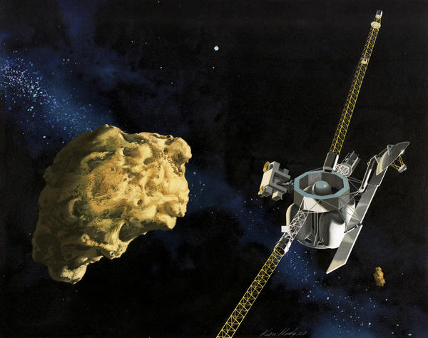 An early concept of the Comet Rendezvous Asteroid Flyby mission, a Cassini twin that was later cut from the plans.