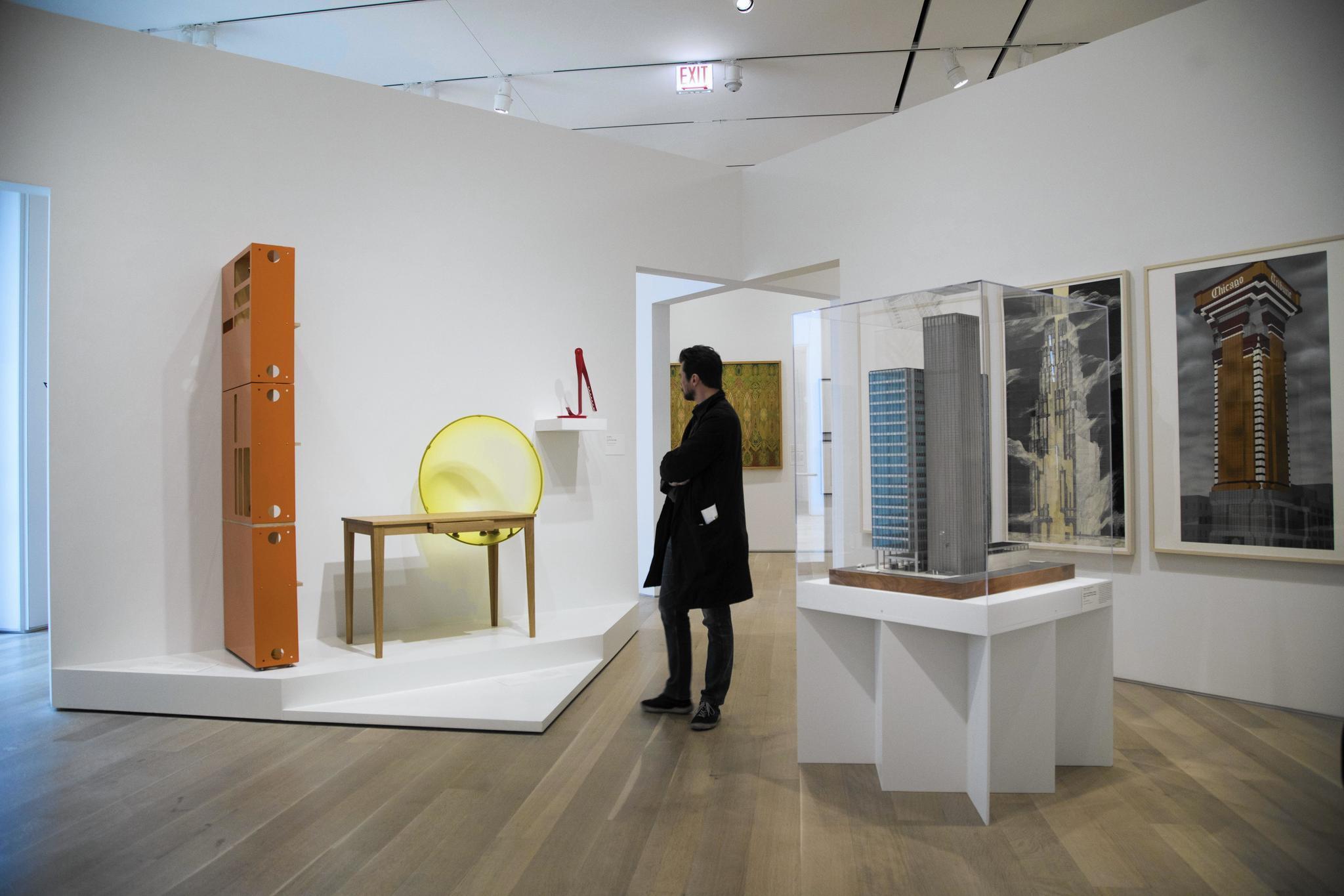 Ideas connect in art institutes past forward design exhibit