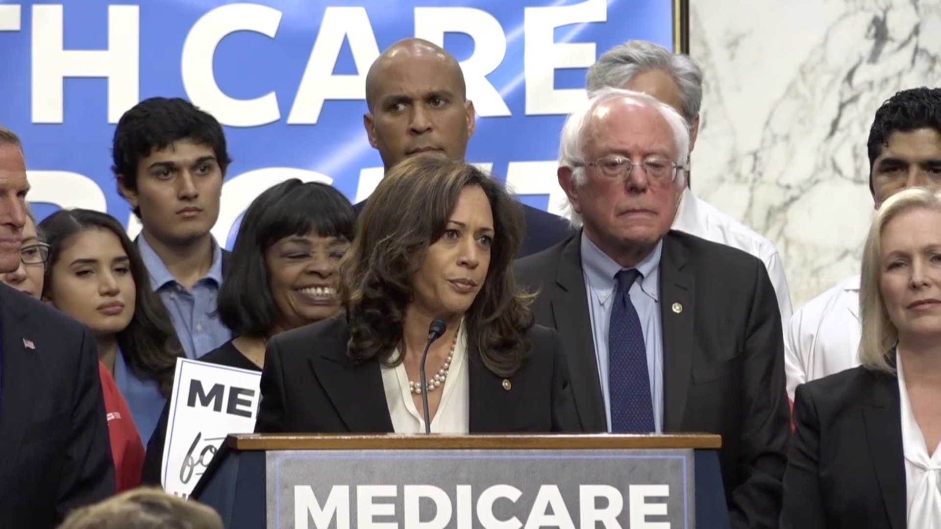 Sen. Kamala Harris Signs On To Bernie Sanders' Single-payer Health Plan