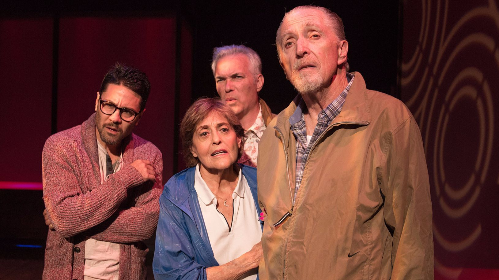 """One of the """"Walking to Buchenwald"""" casts, with (from left), Justin Huen, Laura James, Christopher Cappiello and Ben Martin."""