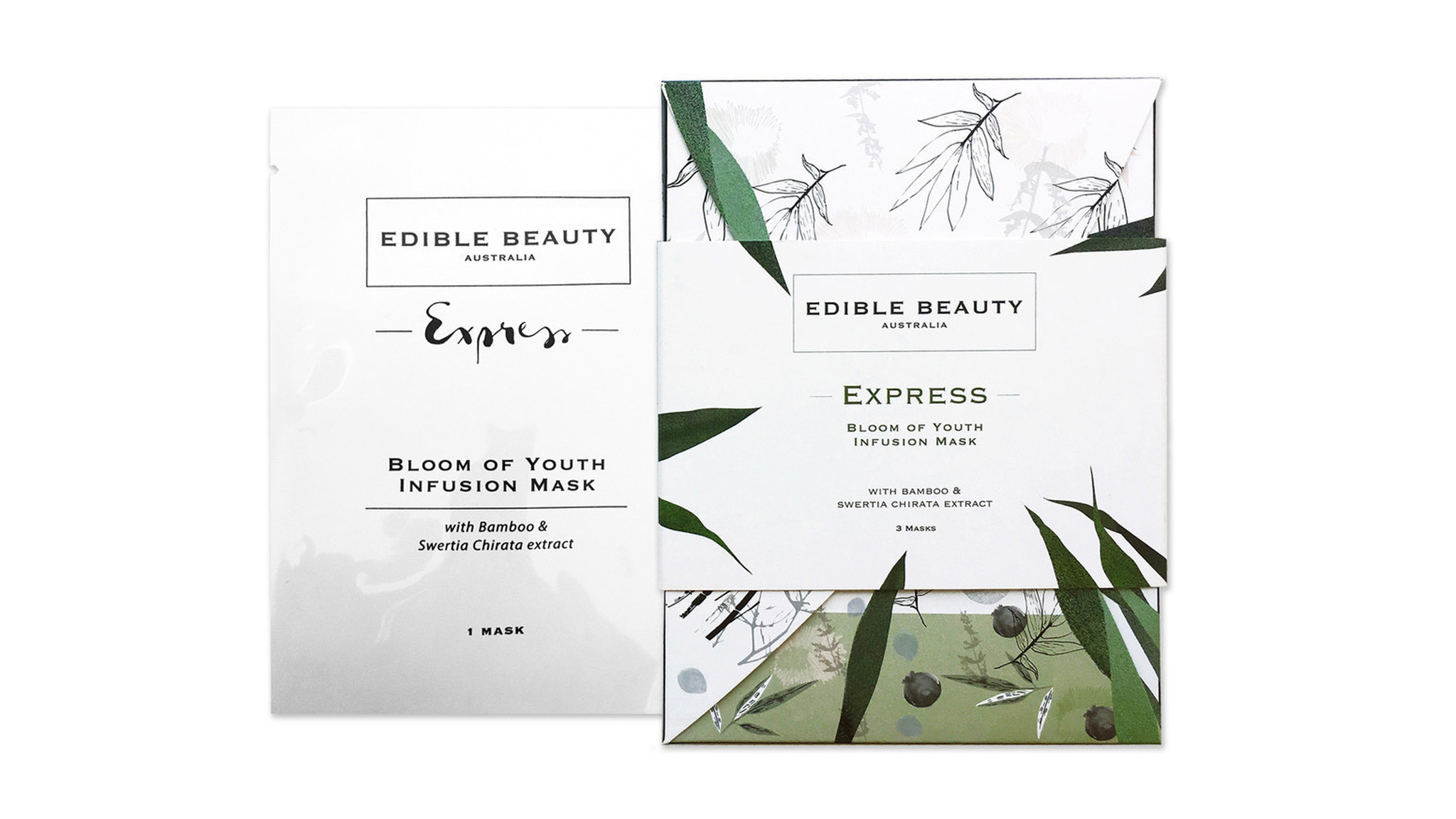 The Australian brand's products are formulated by naturopath and nutritionist Anna Mitsios. Top-sellers include this Bloom of Youth Infusion Mask, $49 for a pack of three, ediblebeautyaustralia.com