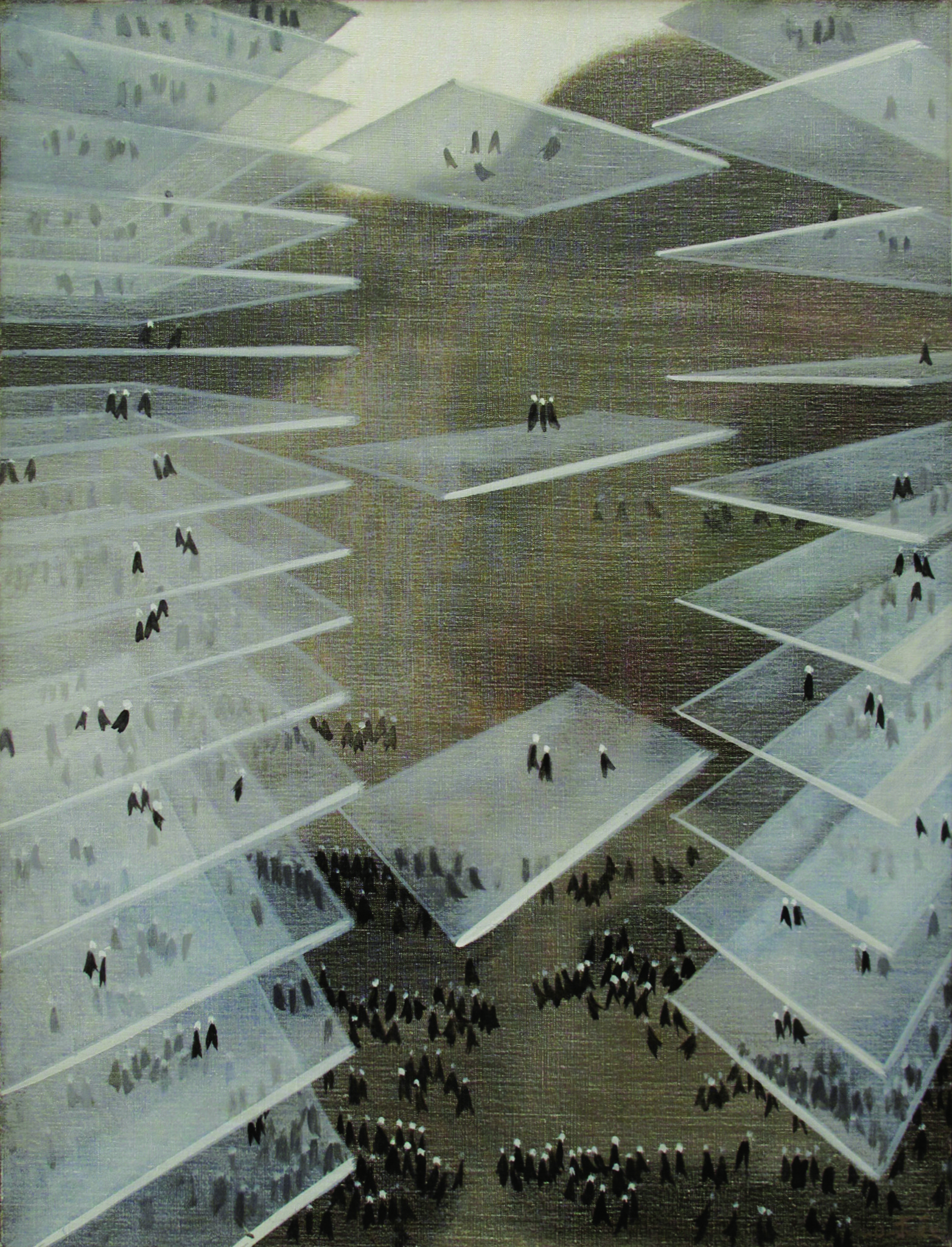 """""""Park Avenue,"""" 1964, by Nemesio Antúnez, from a solo show of the Chilean surrealist's work at Couturier Gallery."""