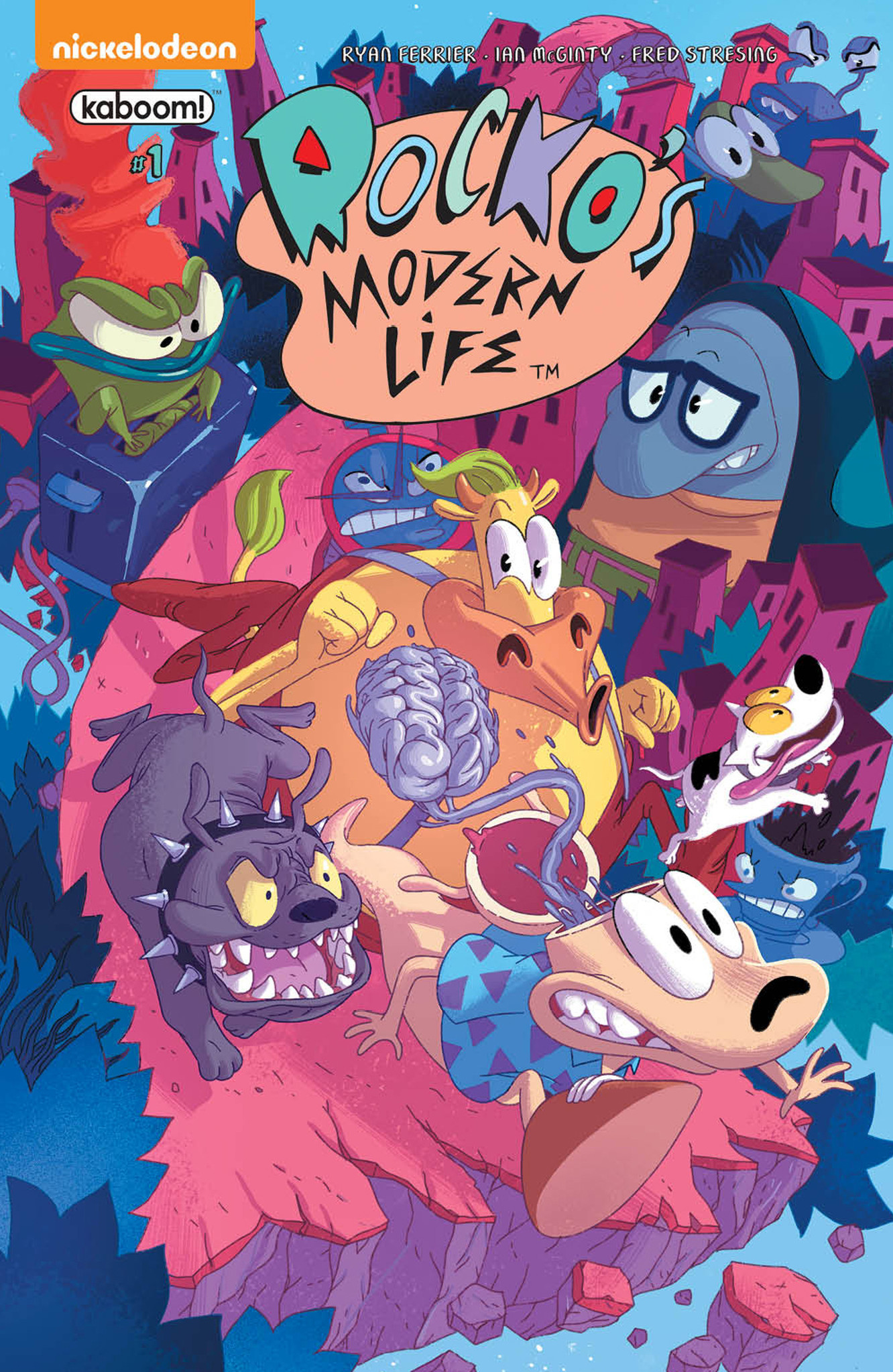 "The main cover for ""Rocko's Modern Life"" by Jorge Monlongo."