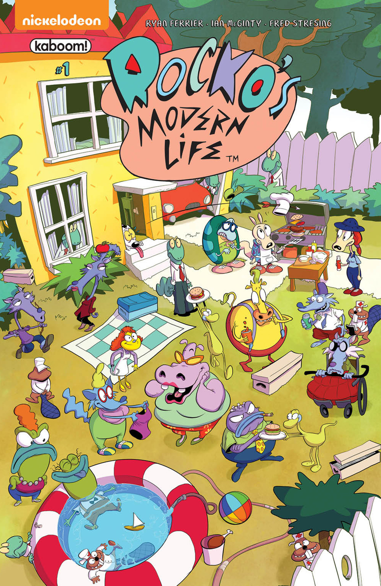 "The look and find variant cover for ""Rocko's Modern Life"" No. 1 by Bachan."