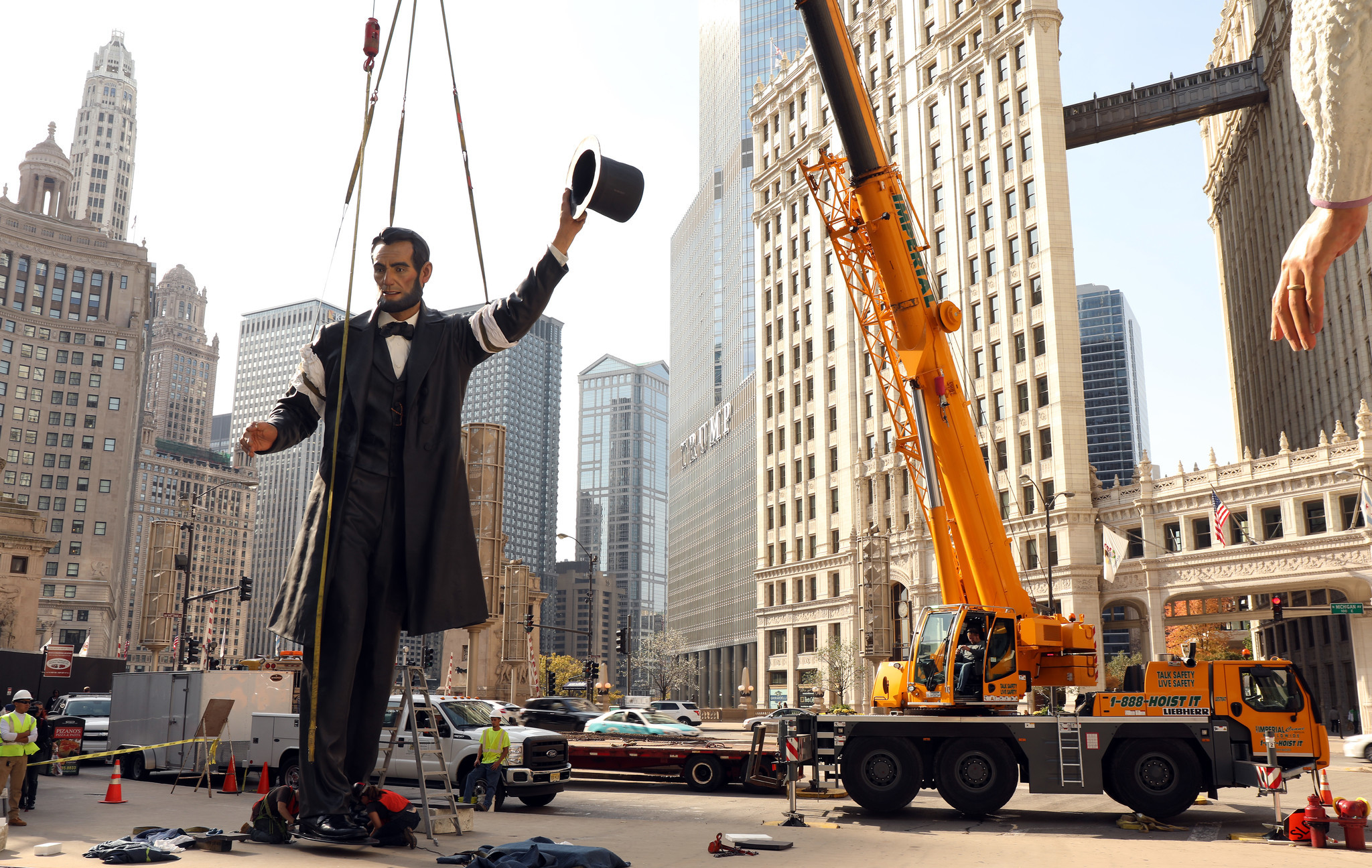 Giant Abraham Lincoln Sculpture Moving From Chicago To