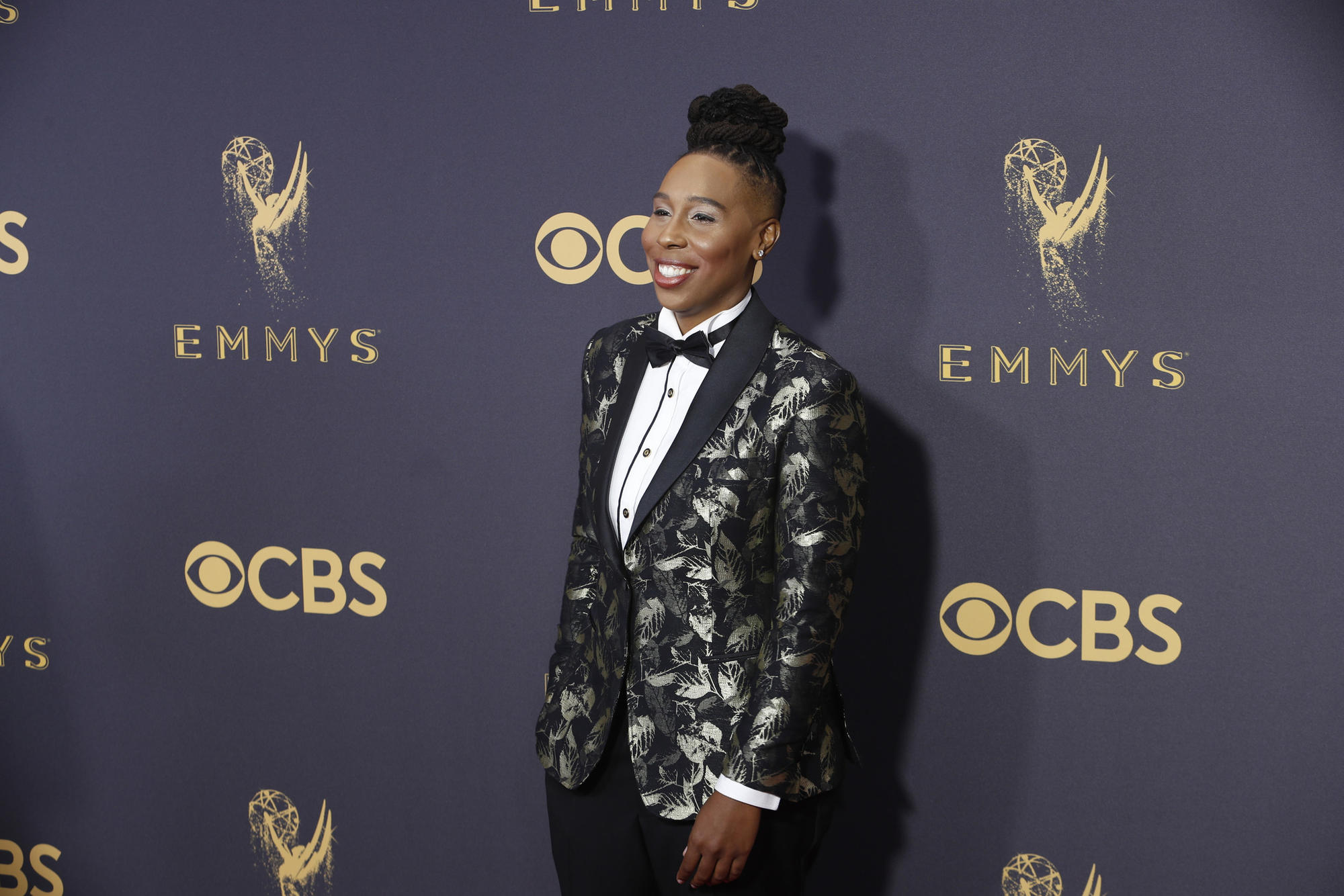 Lena Waithe on the red carpet for the 2017 Emmy Awards. (Kirk McKoy / Los Angeles Times)