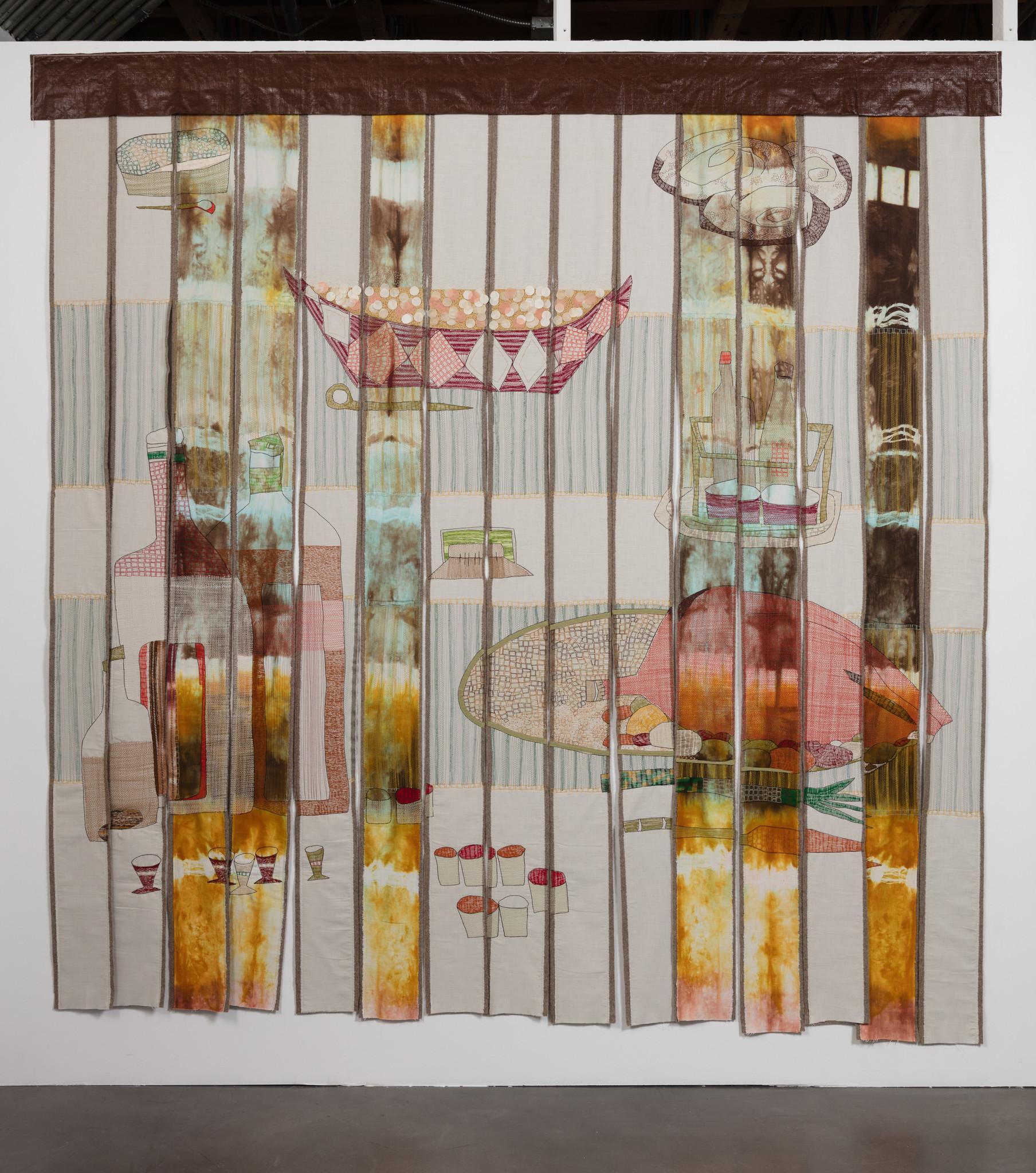"""f.marquespenteado, """"fringed curtain: main course,"""" 2016."""