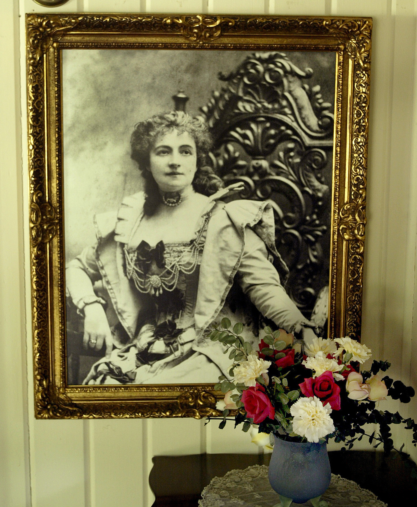 A portrait of Helena Modjeska at her former home, the Helena Modjeska Historic House and Gardens in Silverado.