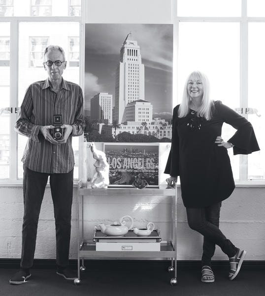 Tim Street-Porter and his wife, writer and interior designer Annie Kelly, have a live-work space in the 1929 Equitable Life Building, on the corner of Hollywood and Vine.