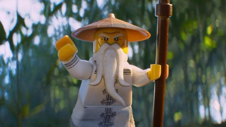 "Master Wu (voiced by Jackie Chan) in the new animated adventure ""The Lego Ninjago Movie."""