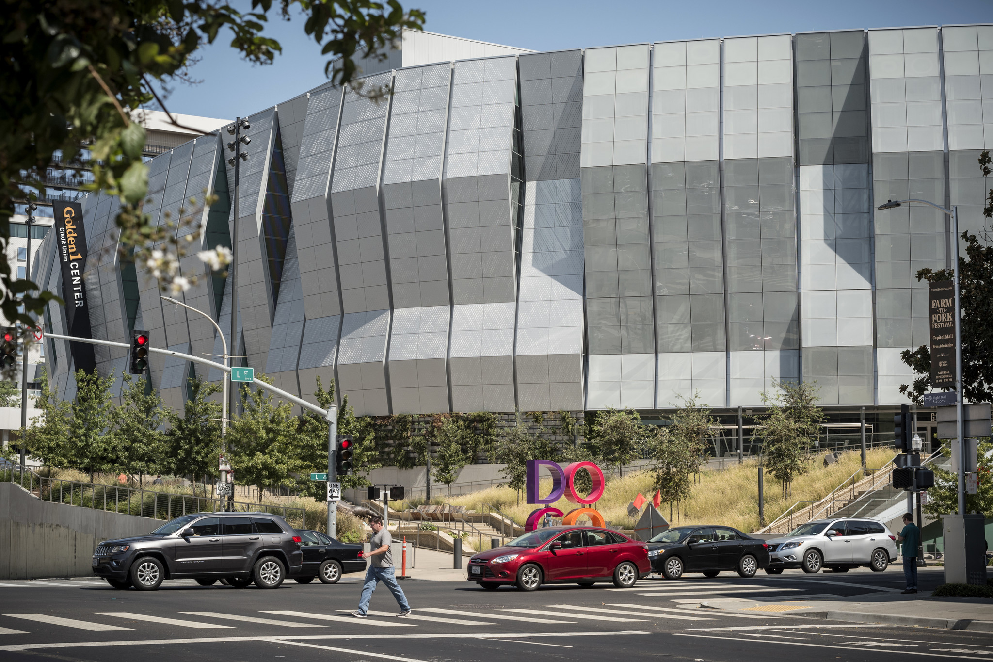 Golden 1 Center in downtown Sacramento is home to the Kings basketball team and also hosts many concerts.