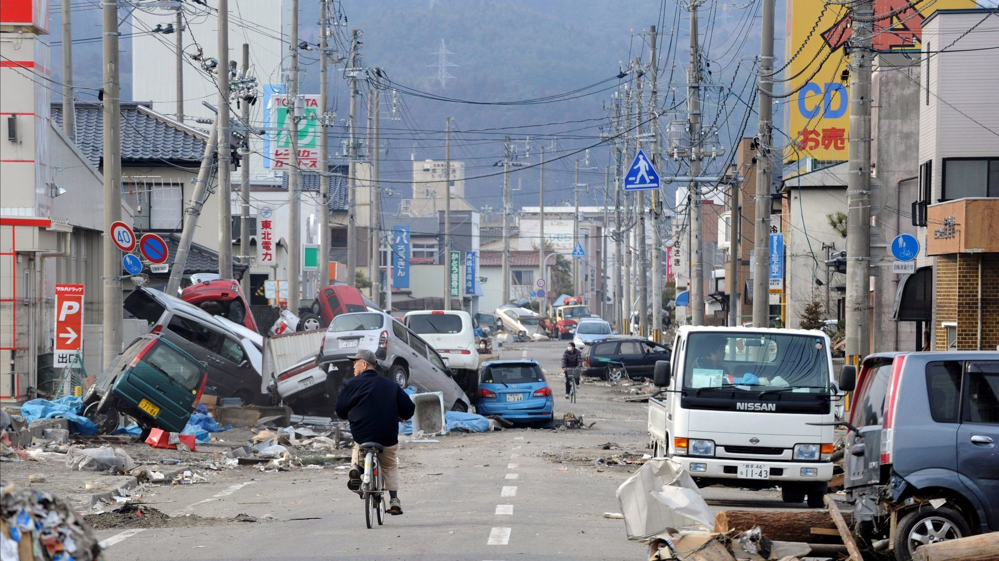 Magnitude 9: A street in Ofunato, in Japan's Iwate prefecture, after an earthquake struck off the coast in 2011, triggering a tsunami.
