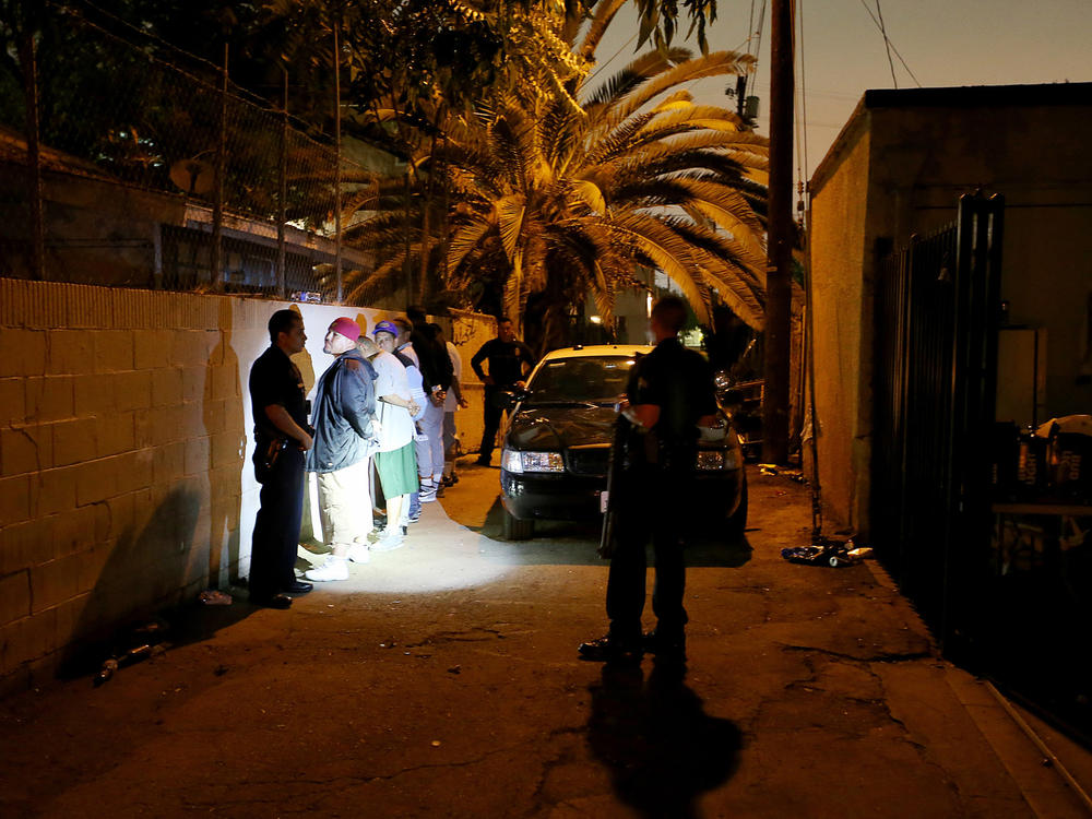 One corner  Four killings  - Los Angeles Times