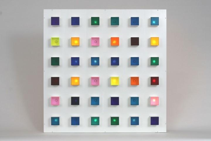 "Gregorio Vardanega, ""Polychromie electronique I,"" 1965-70, mixed media"